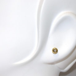 Pendientes de diamantes oro amarillo 0.08 quilates